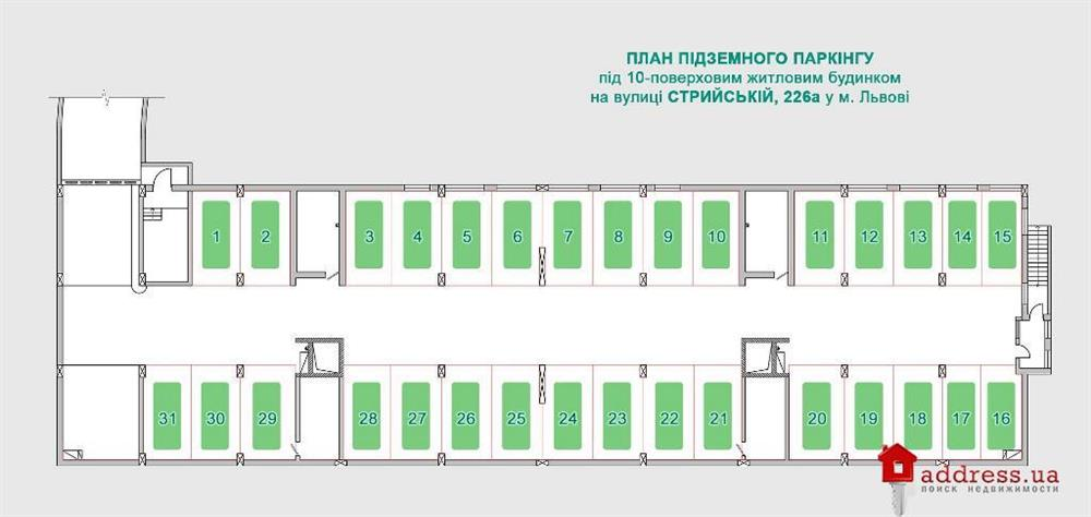 ул. Стрыйская, 226а: План паркинга