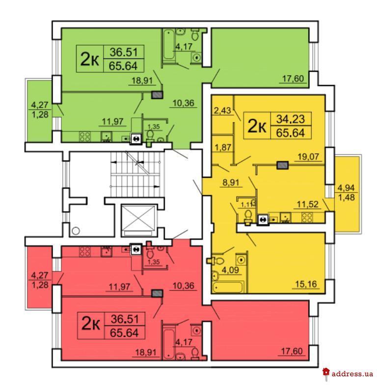 ЖК Ренуар: Планы этажей секций