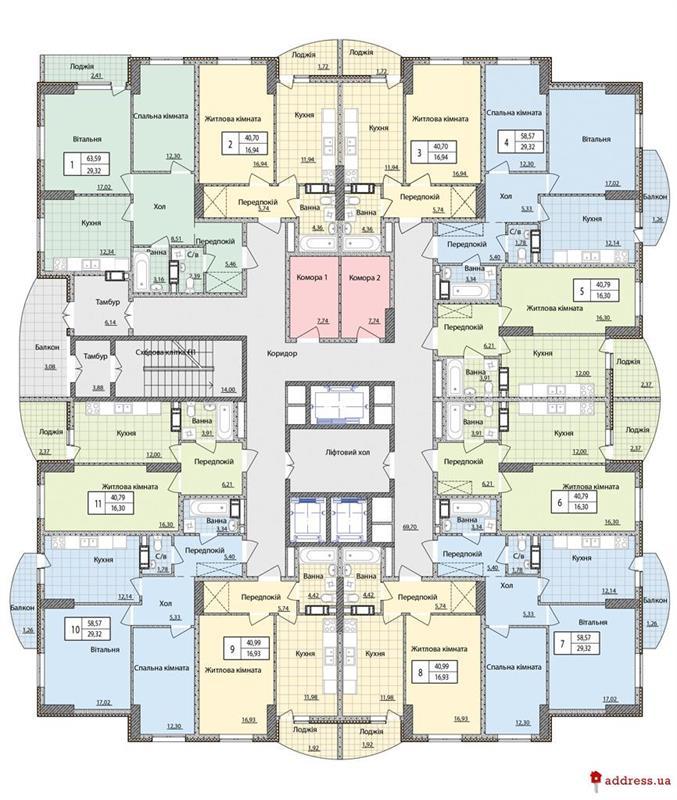 ЖК Набережный квартал: План этажа