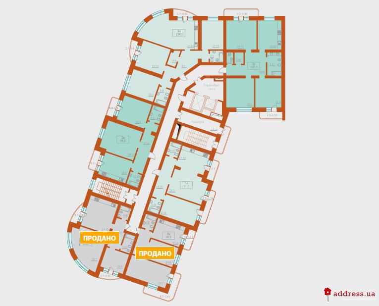 ЖК Французский бульвар, 2: Планировки этажей
