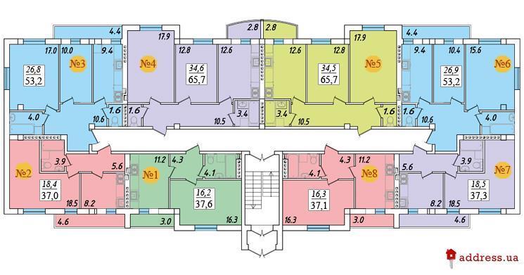 ЖК Академгородок-Совиньон: План этажа