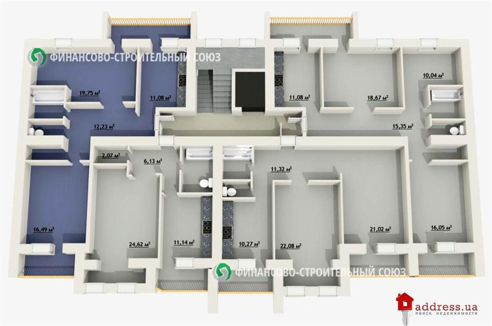 ЖК Гулливер: План этажа