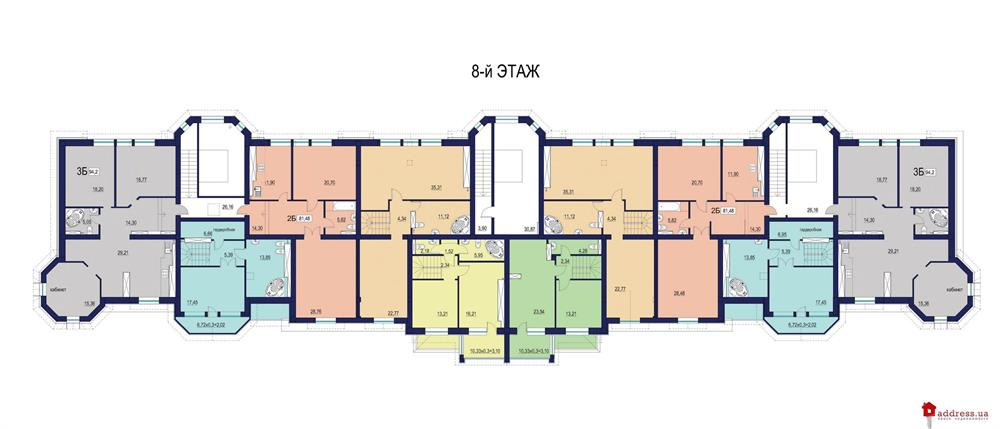 ЖК Зеленый Мыс (Premium Residence): Планы этажей