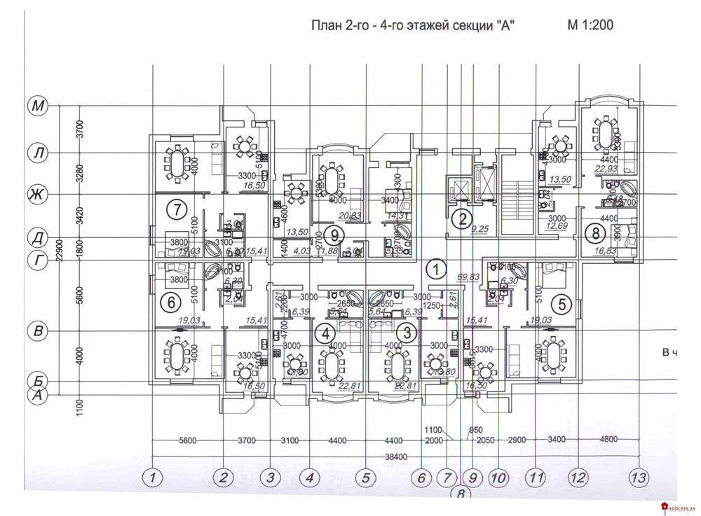 ЖСК Поющий фонтан: Планы этажей