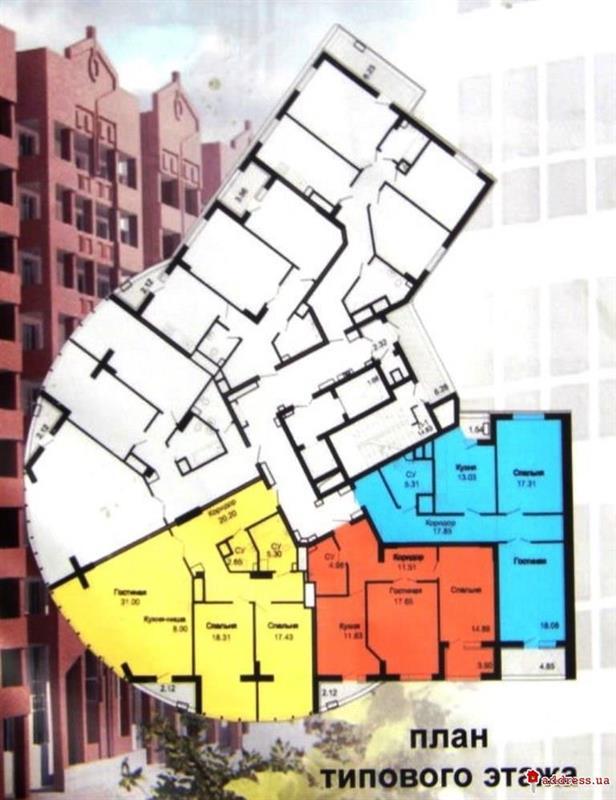 ЖК Чкаловский: План типового этажа