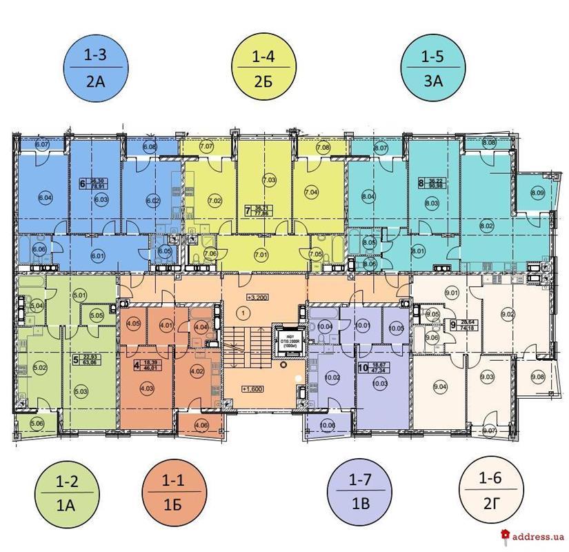 ЖК Avalon Garden (Авалон Гарден): Типовые планировки этажей