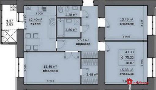 ЖК на Стрыйской: 3-комнатные