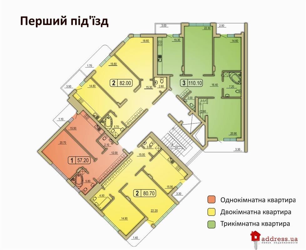ЖК по ул. Горбачевского, 4а (Моршинская/Горбачевского): Планировки квартир (очередь 2)