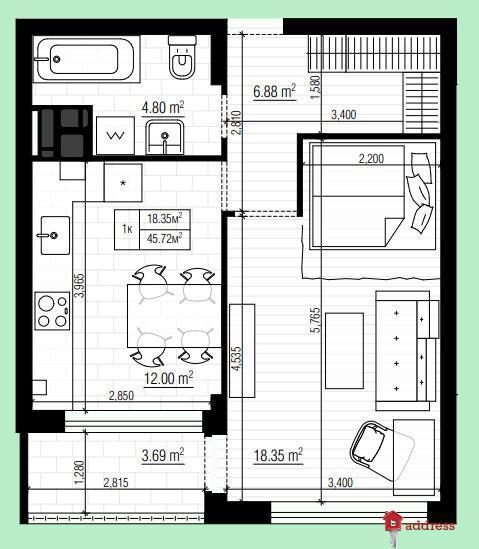 ЖК Park Town: Однокомнатные квартиры