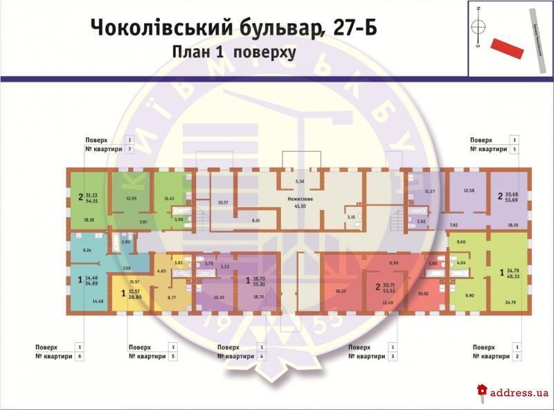 ЖК Чоколовский: Планировки этажей