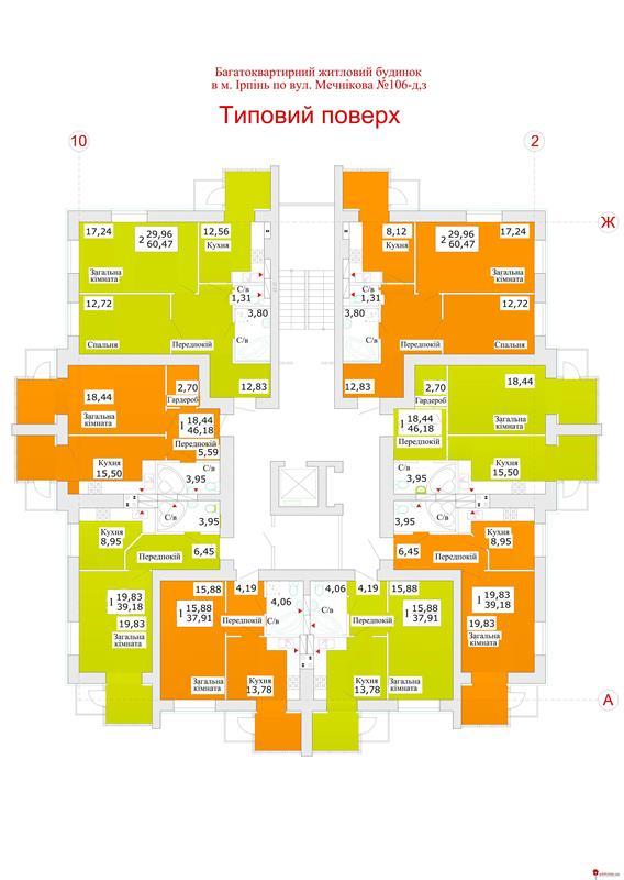 ЖК Теплый стан (Теплий стан): Типовый этаж