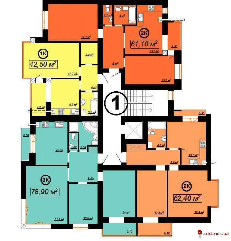 ЖК Квартал Патріот (Патриот): Планировки секций
