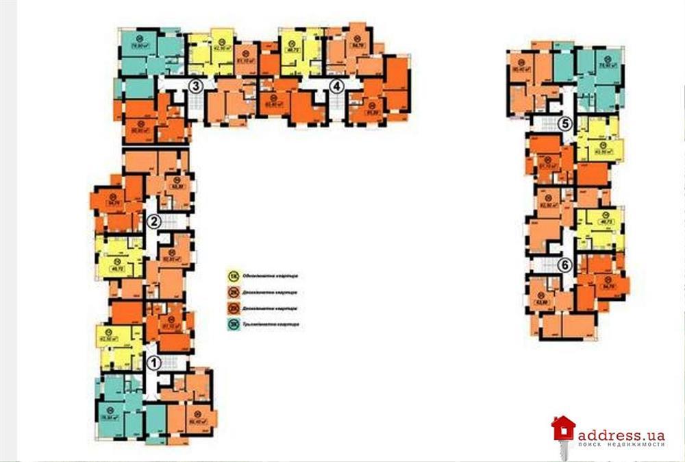ЖК Квартал Патріот (Патриот): Планировка комплекса