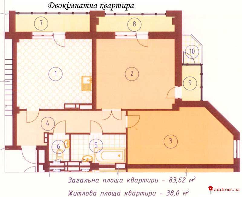Жилой дом по ул. Фрунзе, 85/87-А: Двухкомнатные