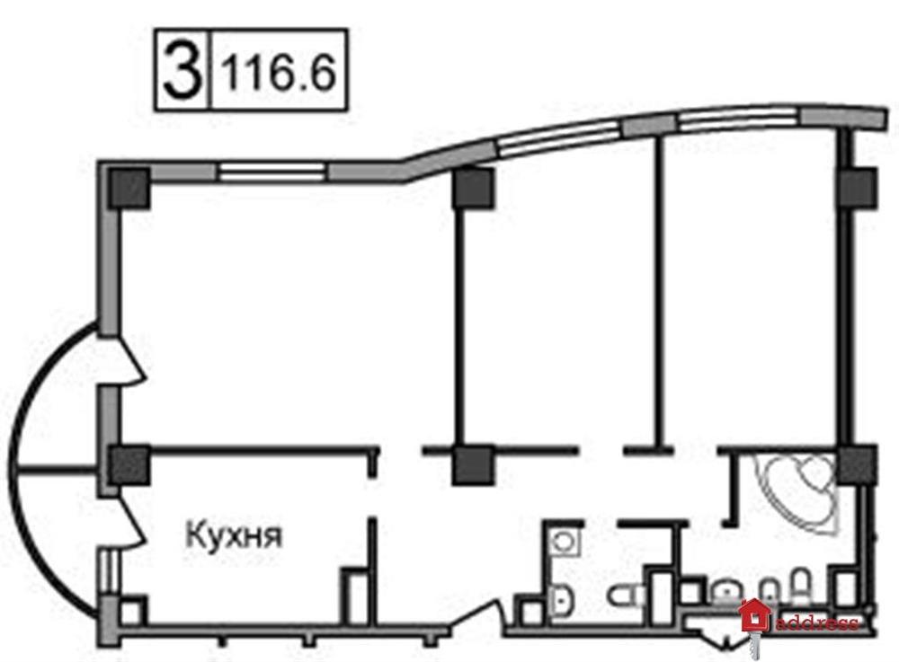 ЖК Героев Сталинграда, 2: Трехкомнатные