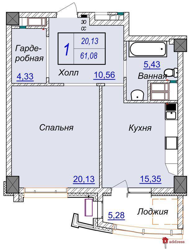 ЖК Бульвар Фонтанов: Однокомнатные