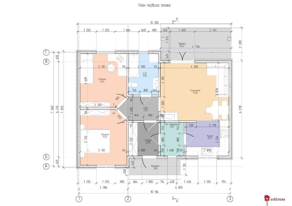 КГ Уютный: Планировка дома