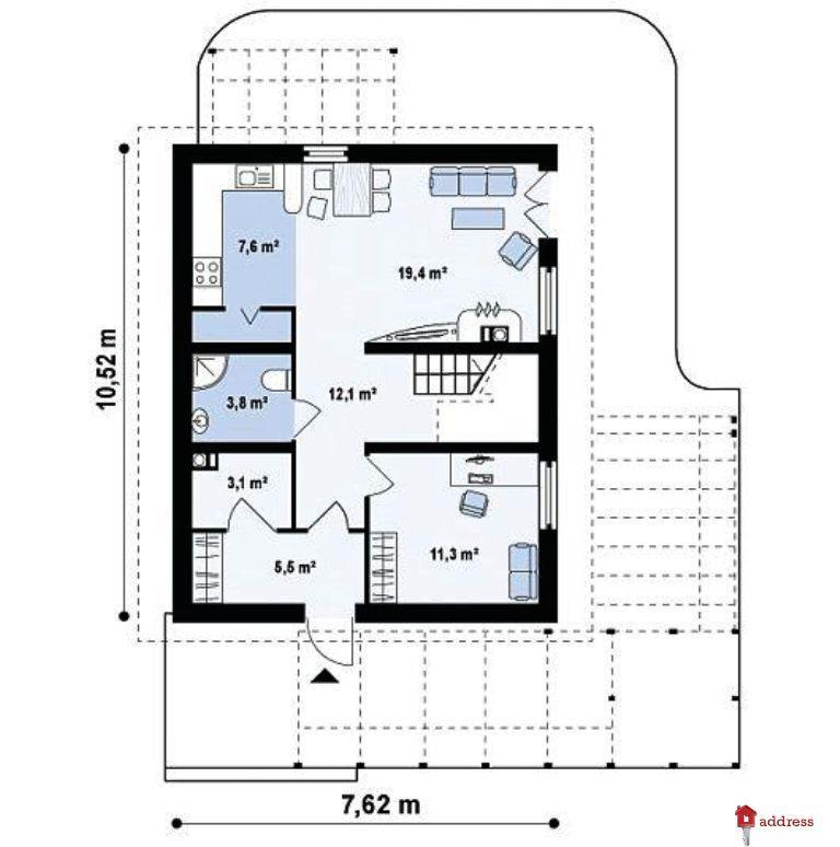 КГ Forbs House. Проект «Радичі» (Радичи): Йорк 121,40 м2