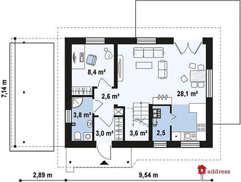 КГ Forbs House. Проект «Радичі» (Радичи): Розвил 99,70 м2