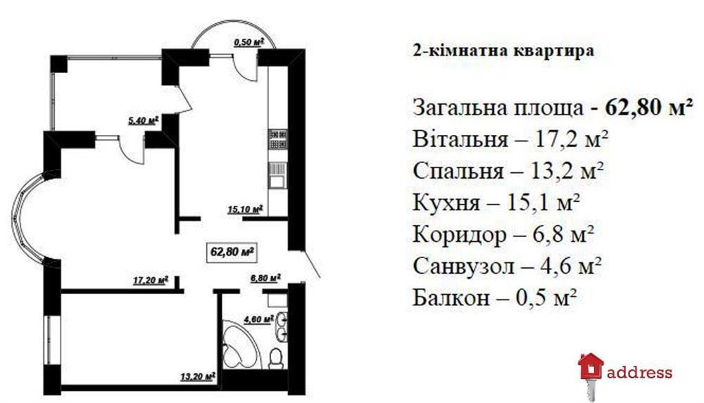 ЖК Калинова Слобода: Двухкомнатные