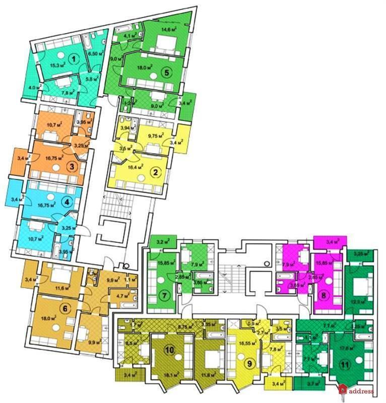 ЖК Перспектива: Типовый этаж