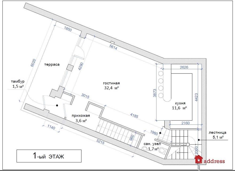 ЖК Городской дом: План этажей домов №№ 1, 6, 8