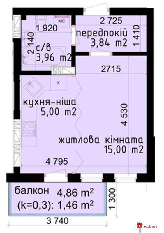 ЖК КРИШТАЛЕВІ ДЖЕРЕЛА: 1-комнатные