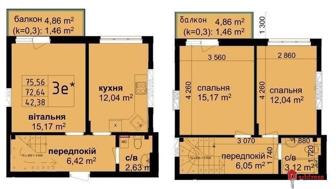 ЖК КРИШТАЛЕВІ ДЖЕРЕЛА: 3-комнатные