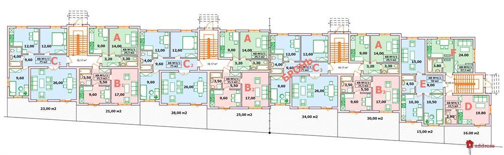 ЖК Квітковий: Планировки этажей
