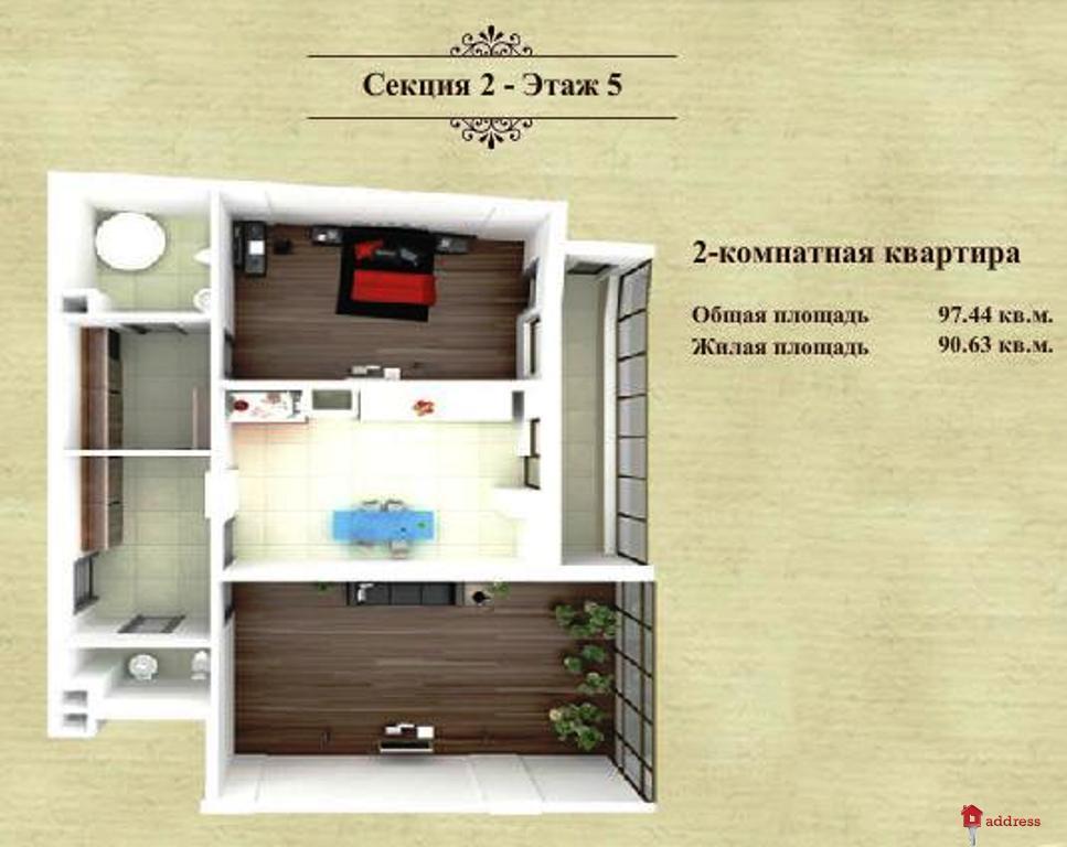 ЖК Дом в Сокольниках: Двухкомнатные