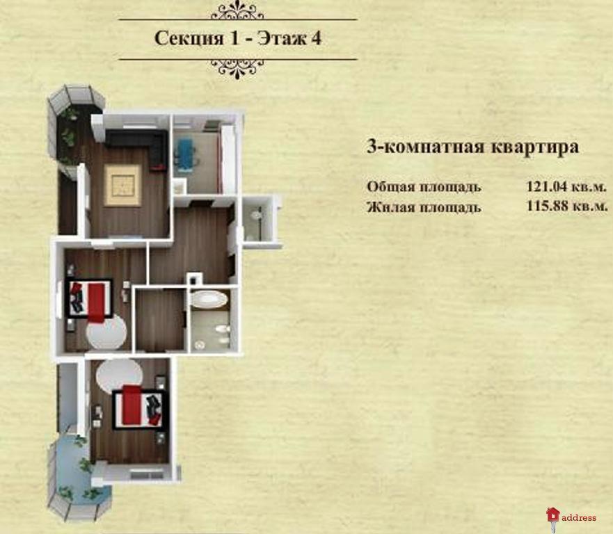 ЖК Дом в Сокольниках: Трехкомнатные