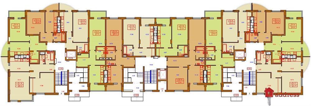 ЖК Жайворонок: Планировка этажей