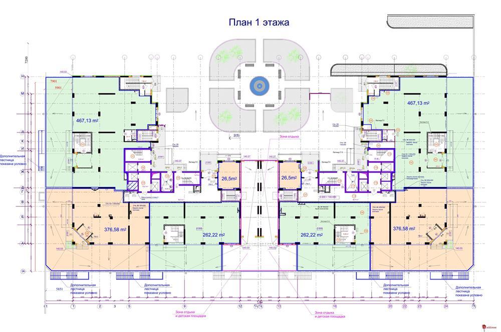 ЖК DELMAR: Поэтажные планировки