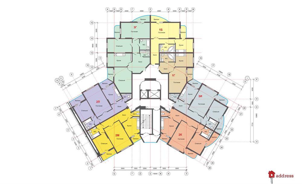 ЖК Эталон: Типовой этаж