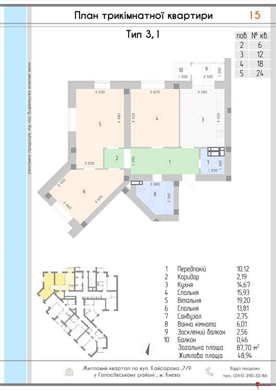 """ЖК """"Парковая Долина"""": 3 комнатные"""