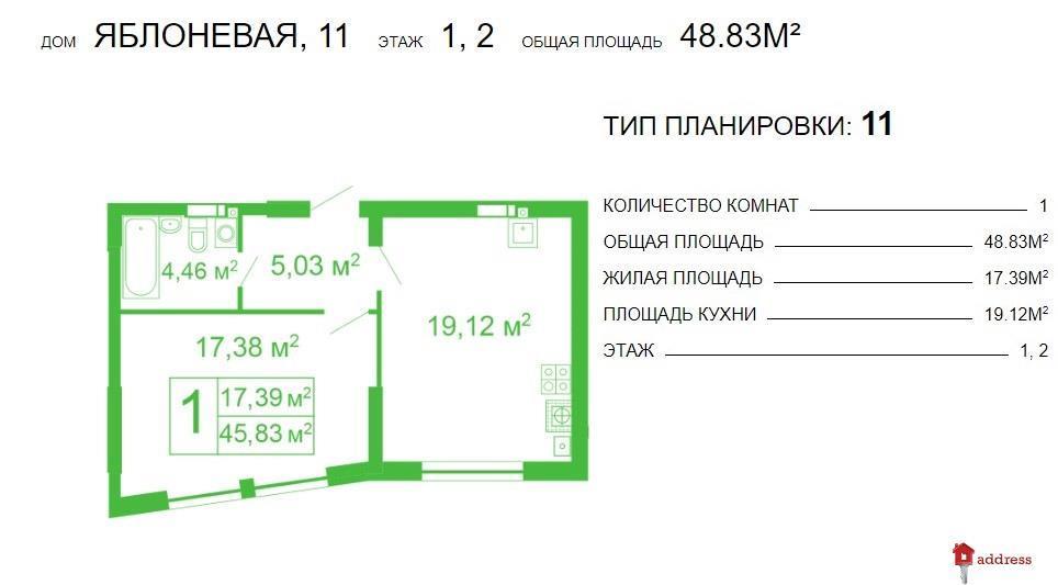 ЖК Щасливий Софиевская Борщаговка: 2 комнатные
