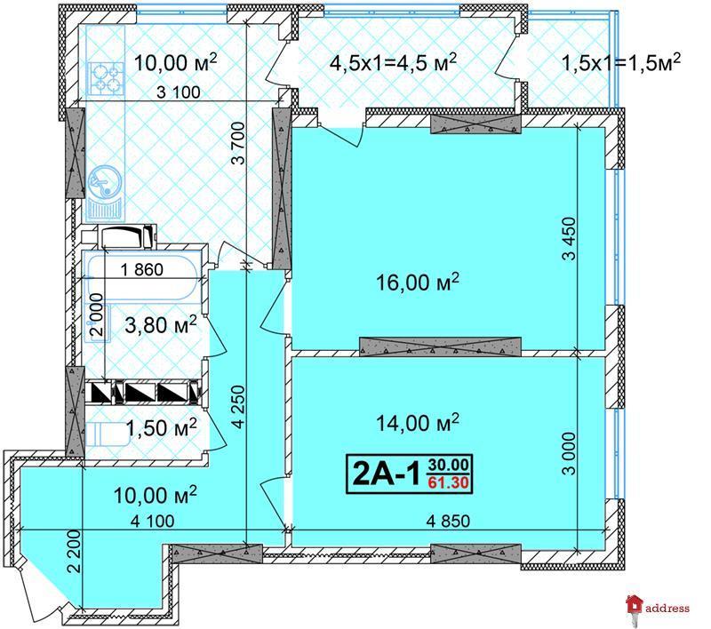 ЖК Шулявский: 2 комнатные