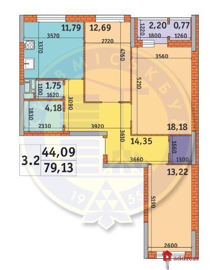 ЖК «Пектораль»: 3 комнатные