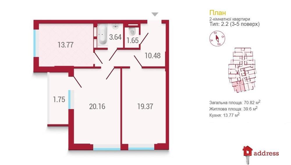 ЖК Покрова: 2 комнатные
