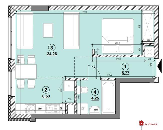 ЖК Америка: 1-комнатные