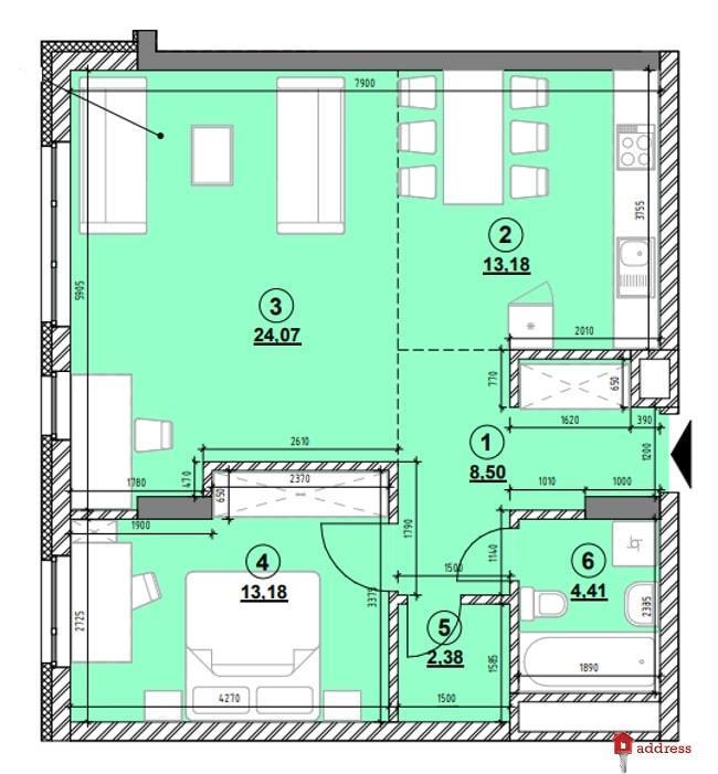 ЖК Америка: 2-комнатные