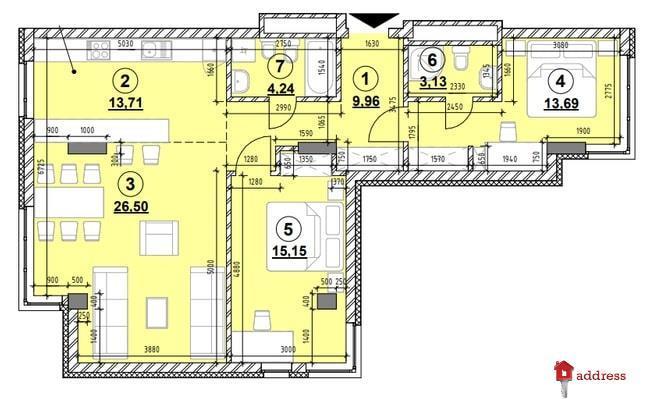 ЖК Америка: 3-комнатные