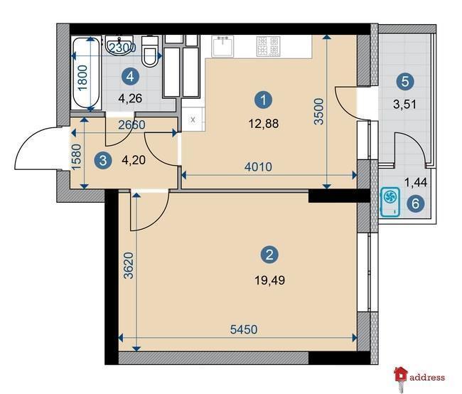ЖК CAMPUS: 1-комнатные