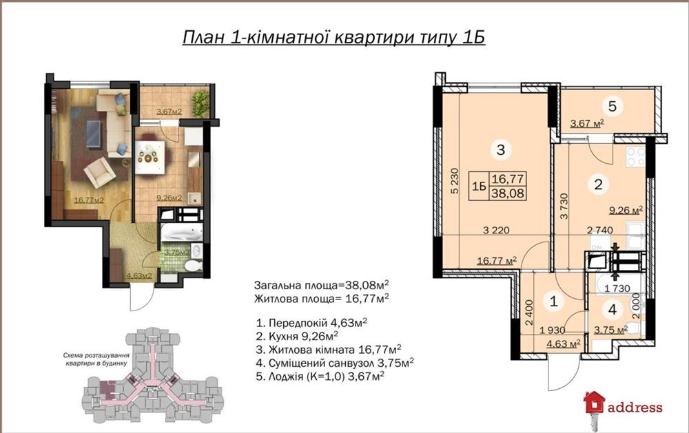 ЖК Зирковый: 1 комнатные