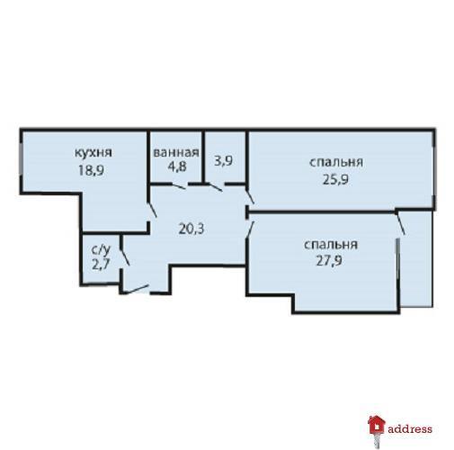 Дом по ул. Е.Коновальца, 36Е: Двухкомнатная