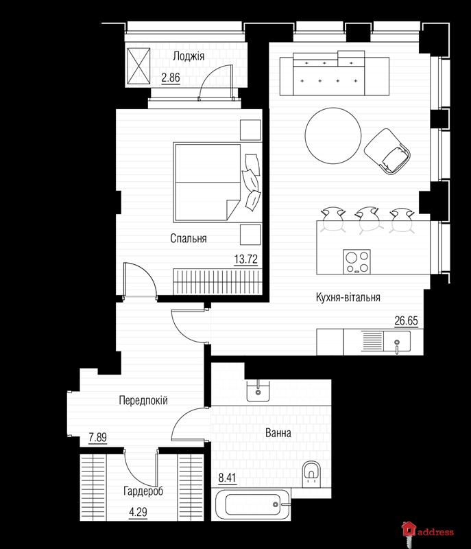 ЖК Chicago Central House: Этаж 21