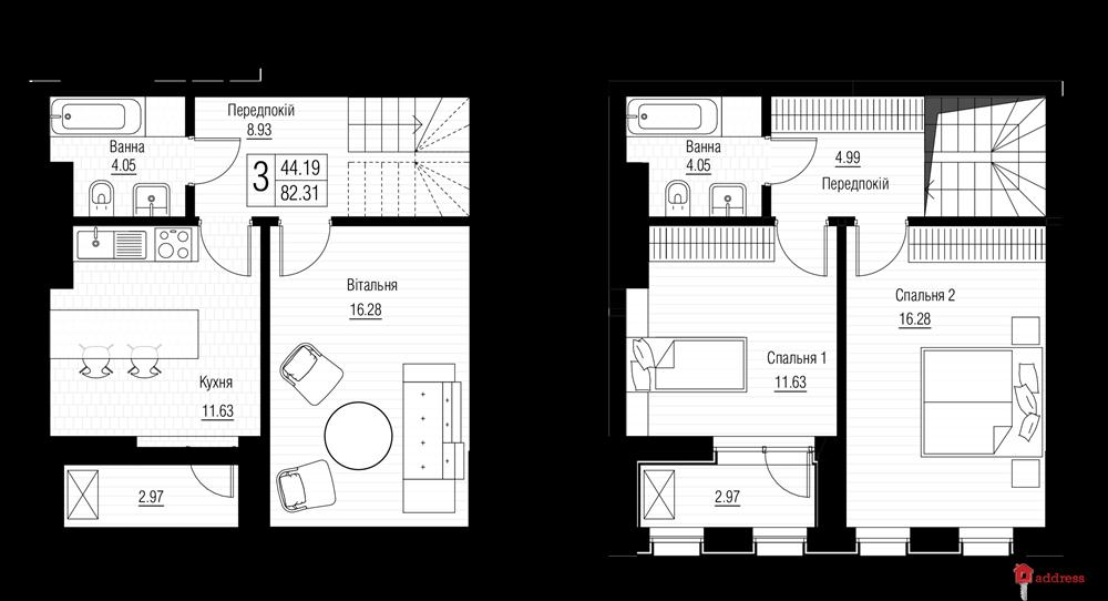 ЖК Chicago Central House: Этажи 23-24