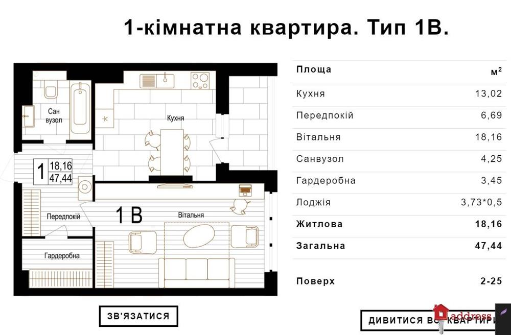 ЖК Bristol Comfort House: 1 комнатные