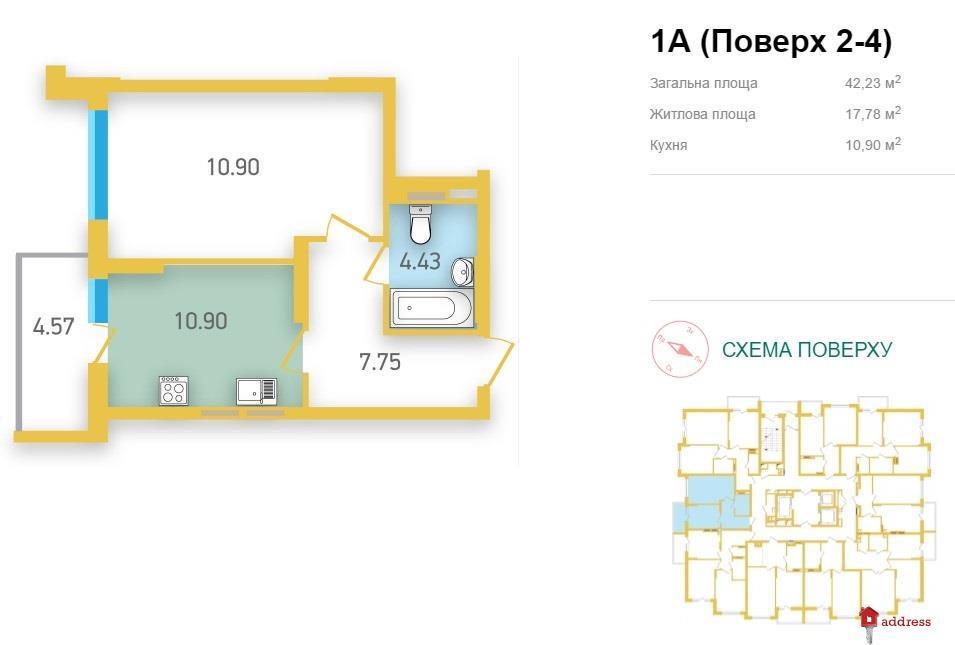 ЖК Friendly House: 1 комнатные