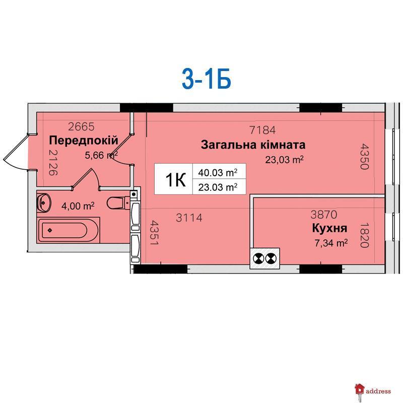 ЖК Ривьера: 1-комнатные